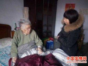 郑州上街区吉祥社区党支部探望生病老党员