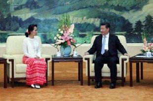 习近平会见缅甸全国民