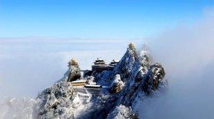 老君山现雪后云海奇观