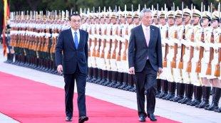 李克强同新加坡总理李