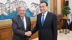 李克强会见联合国秘书